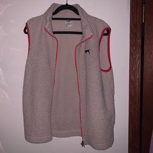 Pink Sherpa Vest Jacket